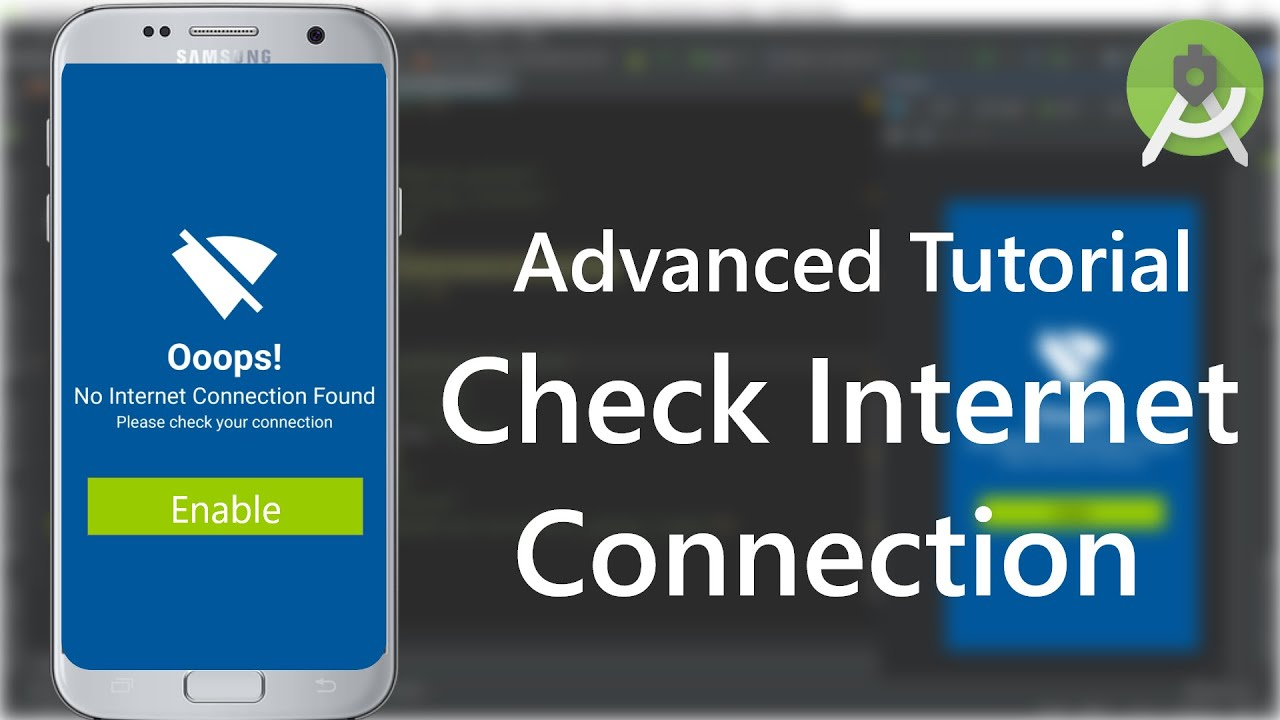 Android Check Internet Connection Advanced Tutorial | code stance