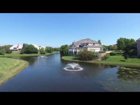 Drone view of 6887 Fieldstone, Burr Ridge, IL