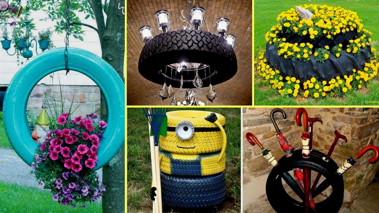 Diy Creative Ideas To Recycle Old Tires Home Decor Organization Recycle Projects Youtube