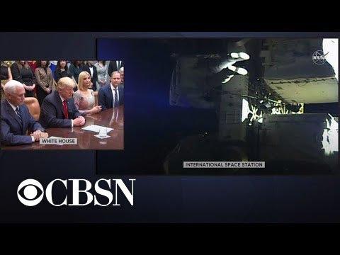 Trump talks to astronauts during first all-female spacewalk