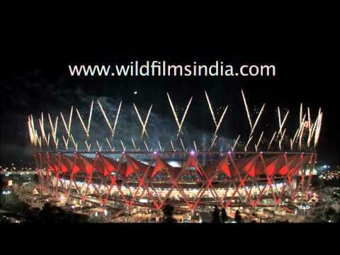 Indian stadium launches fireworks to celebrate big sporting event
