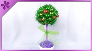 DIY Candy tree for Mother's Day (ENG Subtitles) - Speed up #214