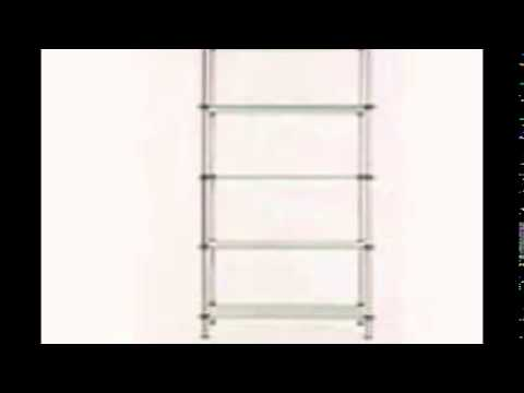 Glass book shelf