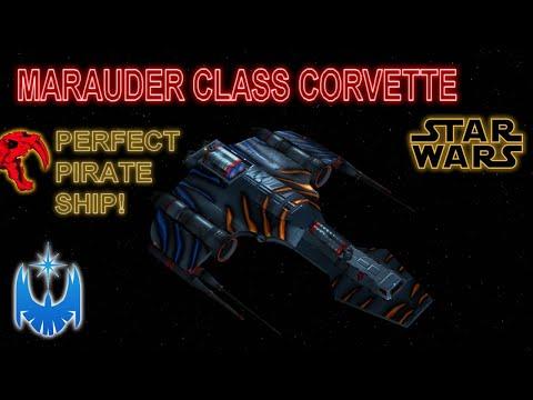 The Marauder Corvette - A Perfect Pirate Star Wars Ship! CG Animated Analysis! |