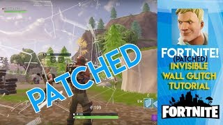 Fortnite | [PATCHED] Invisible Wall Glitch Tutorial