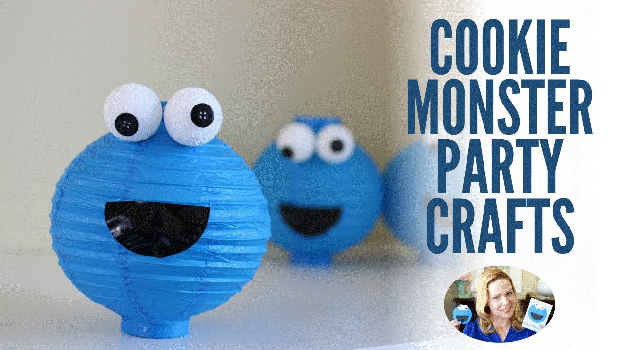 Cookie Monster Inspired Diy Party Crafts Easy Toddler Party Ideas