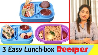 3 Easy Lunch Box Recipes For KidsTeenagers  Indian Lunch Box Recipes  #cookwithasha