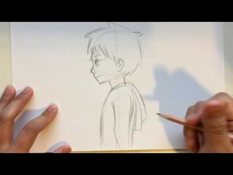 How To Draw Anime Male Head Side View [Slow Narrated Tutorial] [No Timelapse]