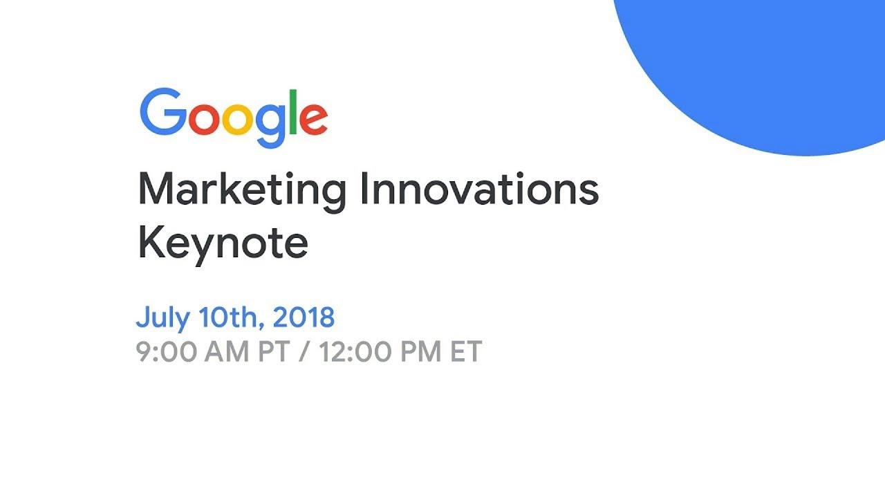 Marketing Live 2018: Marketing Innovations Keynote - YouTube