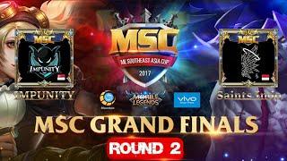 IMPUNITY VS SAINTS INDO Match 2 - Mobile Legends MSC Grand Finals 5 Nations