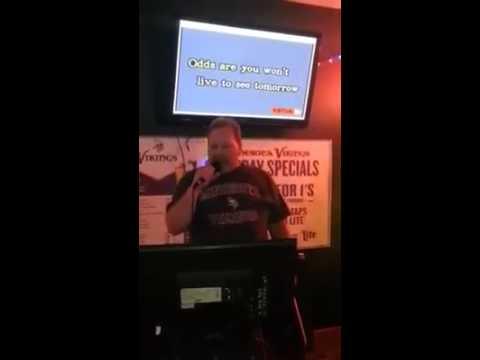 Owner Bill Spies singing Karaoke