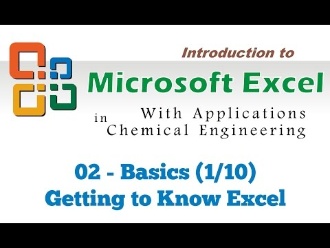 Excel for Chemical Engineers I 02 I Basics [Getting to know Excel](1/10)