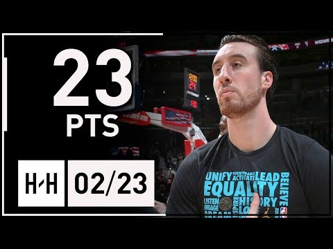 Frank Kaminsky Full Highlights Hornets vs Wizards (2018.02.23) - 23 Points of the Bench!