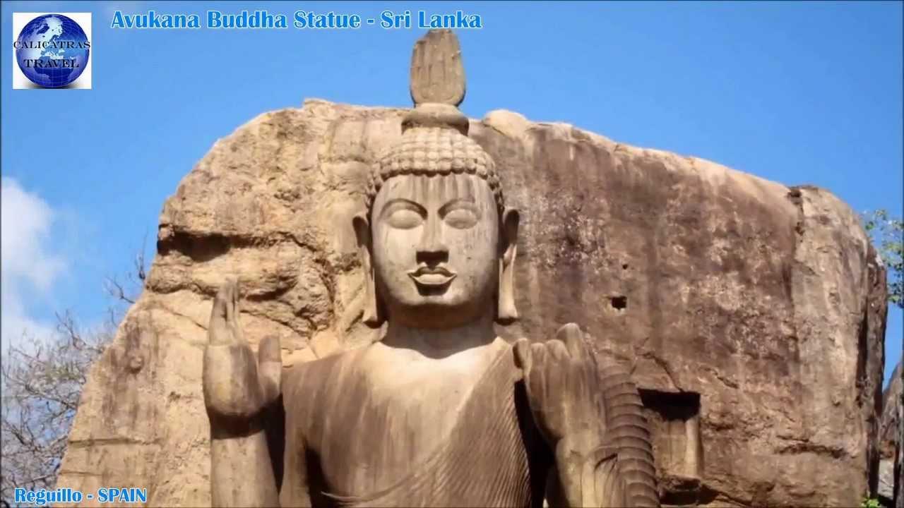 avukana buddha statue sri lanka hd youtube