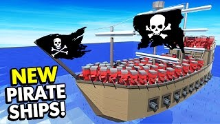 NEW PIRATE SHIPS AND UNITS BATTLE IN OCEAN MAP! (Ancient Warfare 2 Update Funny Gameplay)