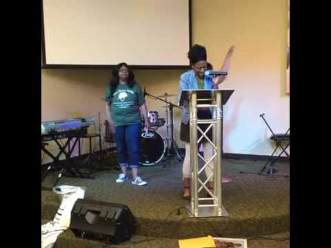 WOT Women of Travail Houston Chapter Facedown prayer with Lady Gail Johnson