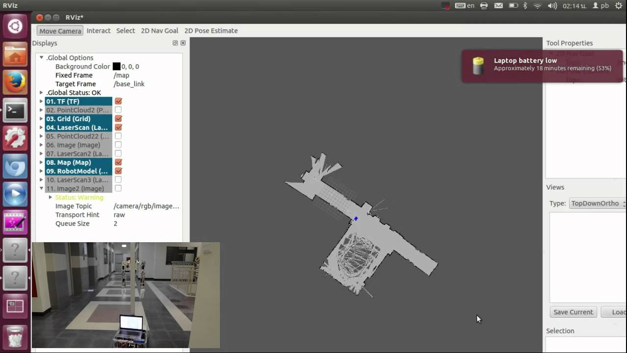 Navigation stack with ROS (Robot Operating system)