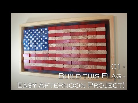 How to build this American Flag – Easy DIY Project