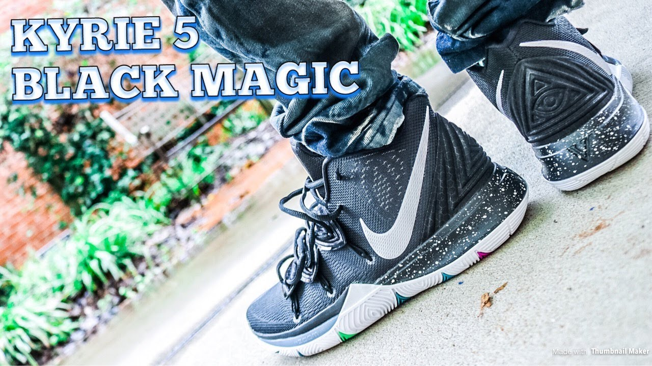 395faa75030 NIKE KYRIE 5 BLACK MAGIC - IN DEPTH REVIEW   ON FEET!! - YouTube