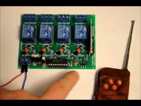 The Four Channel Rf Wireless Relay Board Includes
