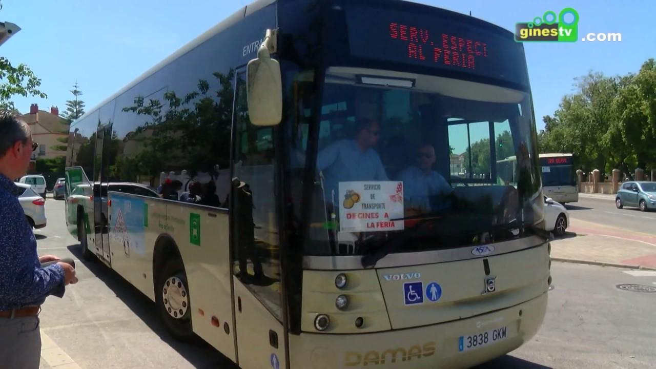 El servicio de autobuses entre Gines y la Feria marca un nuevo récord al superar los 15.000 usuarios