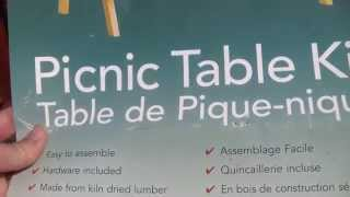 Diy: Build Your Own Picnic Table, Kit Form, Part 1.