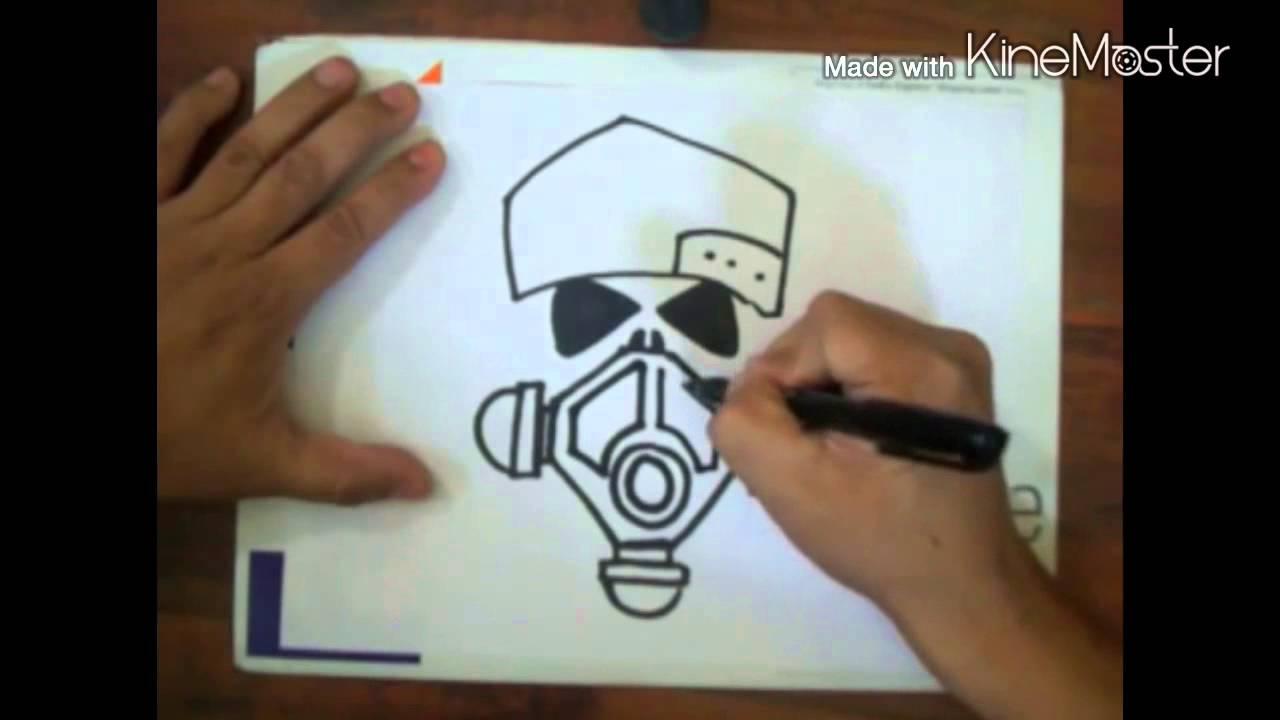 طريقة رسم جمجمة بالقلم Youtube