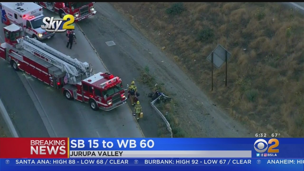 Motorcyclist Killed On Transition From Southbound 15 to Westbound 60 Freeway