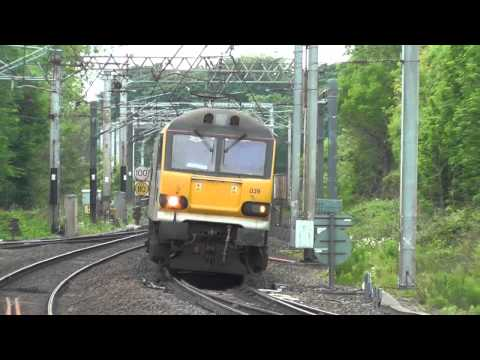 Class 92 action, at Lancaster. Sun.1st June 2014