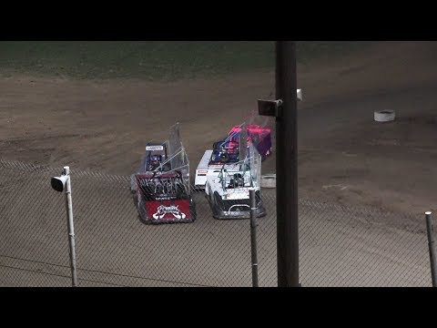 A Feature 1 (10 Laps): 12-Eli Fellows, B76-Zayden Buskirk, 14-Ethan Beaulieu,21N-Landyn Neitling, 747-Jazzlyn Hale, (DNS) 155-Mikah Kurkowski, ; (DNS) ... - dirt track racing video image