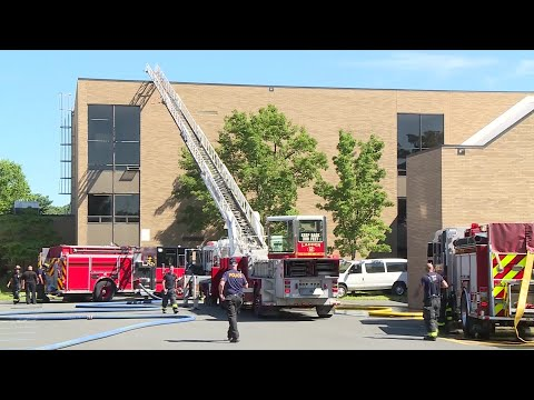 Video Now: Fire at Attleboro High School