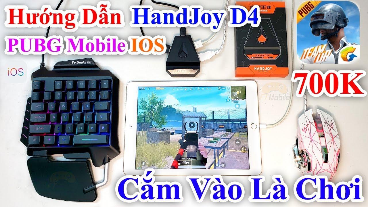 HandJoy D4 – Hướng Dẫn Chơi PUBG Mobile Bằng Bàn Phím Chuột Trên IOS – Ipad – Iphone Cắm Vào Là Chơi