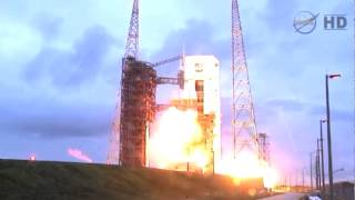 Launch of Delta-IV Heavy carrying Orion EFT-1 from CCAFS