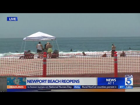 Newport Beach Latest Shoreline To Reopen In Orange County, California