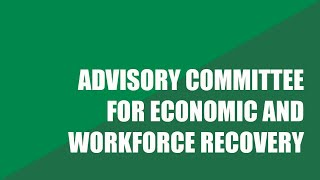 Special Virtual Advisory Committee for Economic and Workforce Recovery