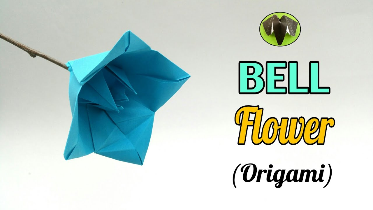 Bell flower diy origami tutorial handmade 772 youtube bell flower diy origami tutorial handmade 772 mightylinksfo