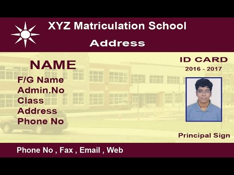 How to create a School ID Card in Photoshop ( with ESubs ) - YouTube