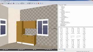 Построение кухни в программе EKitchen Lazurit