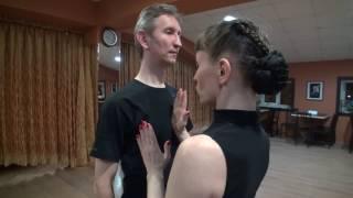 Видеоурок спортивно бальных танцев в европейской программе. Dance Cafe.