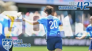 WNT vs. Republic of Ireland: Abby Wambach First Goal - May 10, 2015
