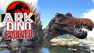 Download Video ARK Dino Evolved - Aprendendo a Pescar, Spinosaurus, Caçando Dinossauros!   (#3) (PT-BR) MP3 3GP MP4