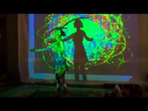 Angela Hicks: Street Artist (Sword Balancing + Live Painting)
