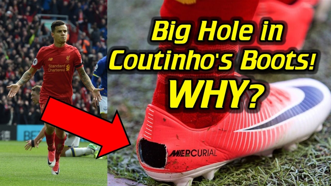 1b5308f587a Why Did Coutinho Cut a Hole in His Boots  - YouTube