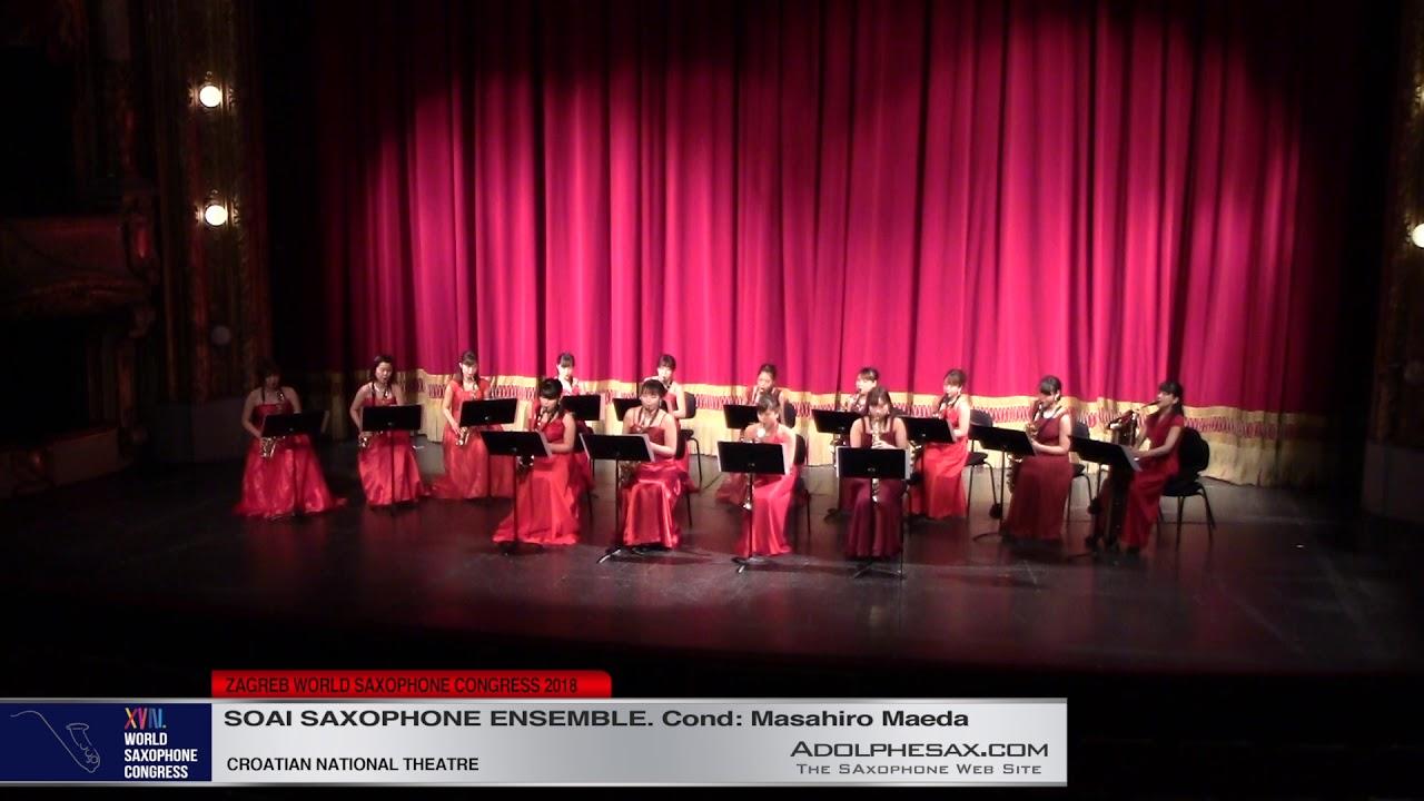 Nocturnes Fetes by Claude Debussy    Soai Saxophone Ensemble   XVIII World Sax Congress 2018 #adolph