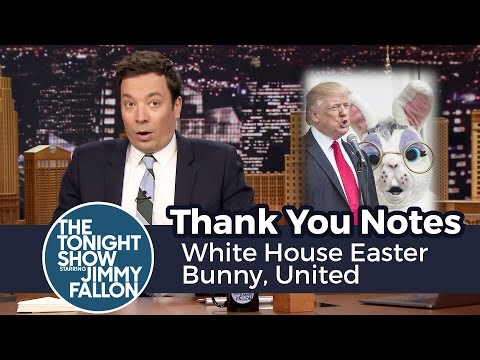 Thumbnail: Thank You Notes: White House Easter Bunny, United