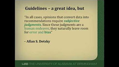 Overview of Clinical Practice Guidelines