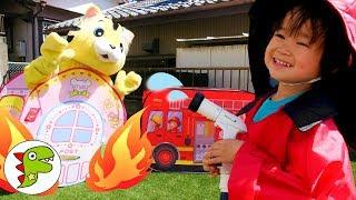 消防士になりきってみよう!消防車に乗って消火活動をするよ!トイキッズ thumbnail