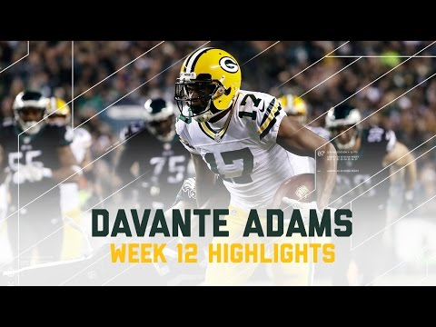 Davante Adams Goes Off for 113 Yards and 2 TDs! (Week 12 Highlights) | Eagles vs. Packers | NFL