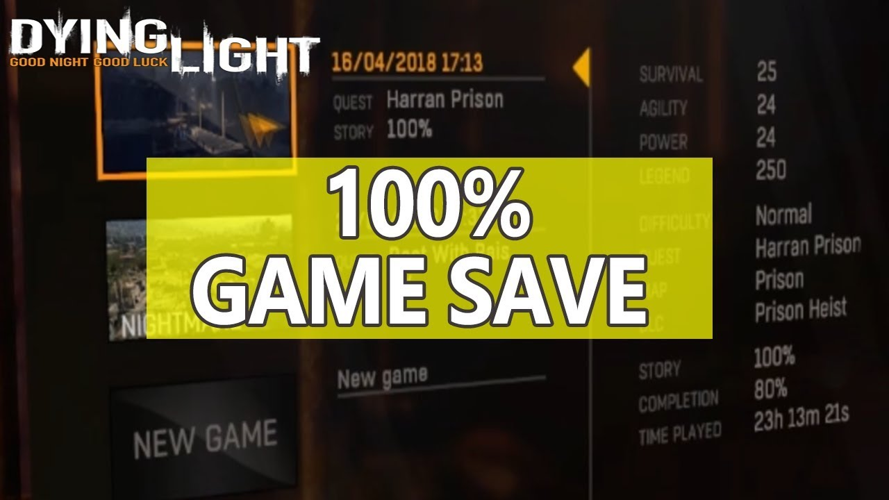 dying light download save game file