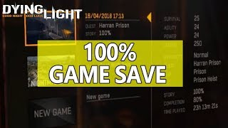 Dying Light 100 Game Save Gold Weapons Crafting Parts Money